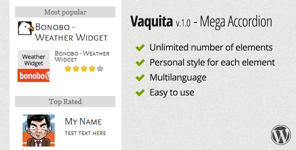 CodeCanyon Vaquita Mega Accordion Widget 3282403