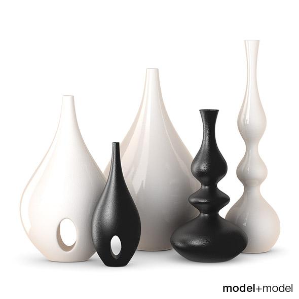 3DOcean Rochebobois Minsk & Bulb vases 115815