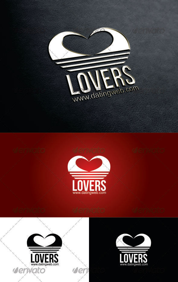 GraphicRiver Lovers Dating Logo 3282668
