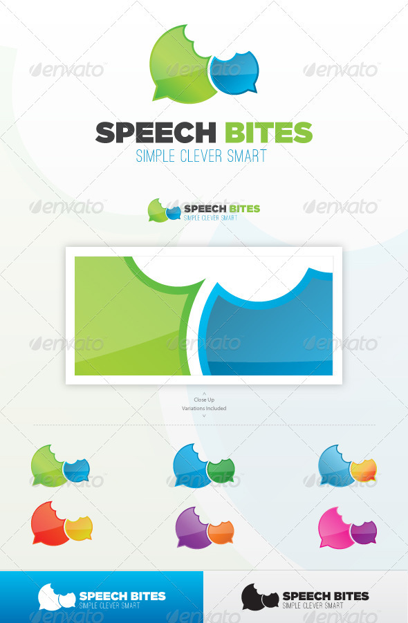 Speech Bites Logo Template - Symbols Logo Templates