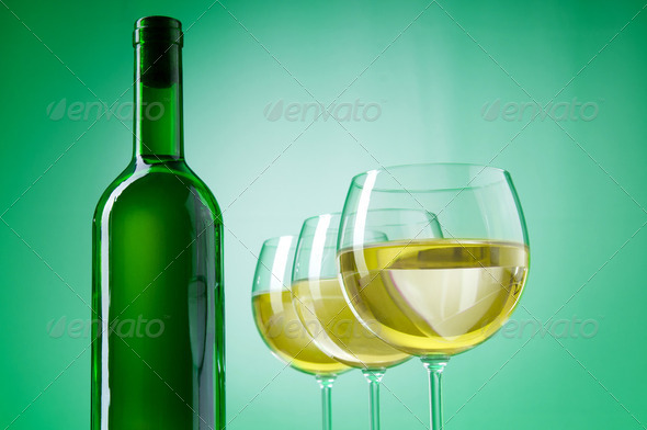 Wine concept with gradient background - Stock Photo - Images