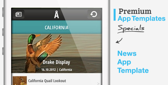 CodeCanyon News App Template for iPhone 3233080