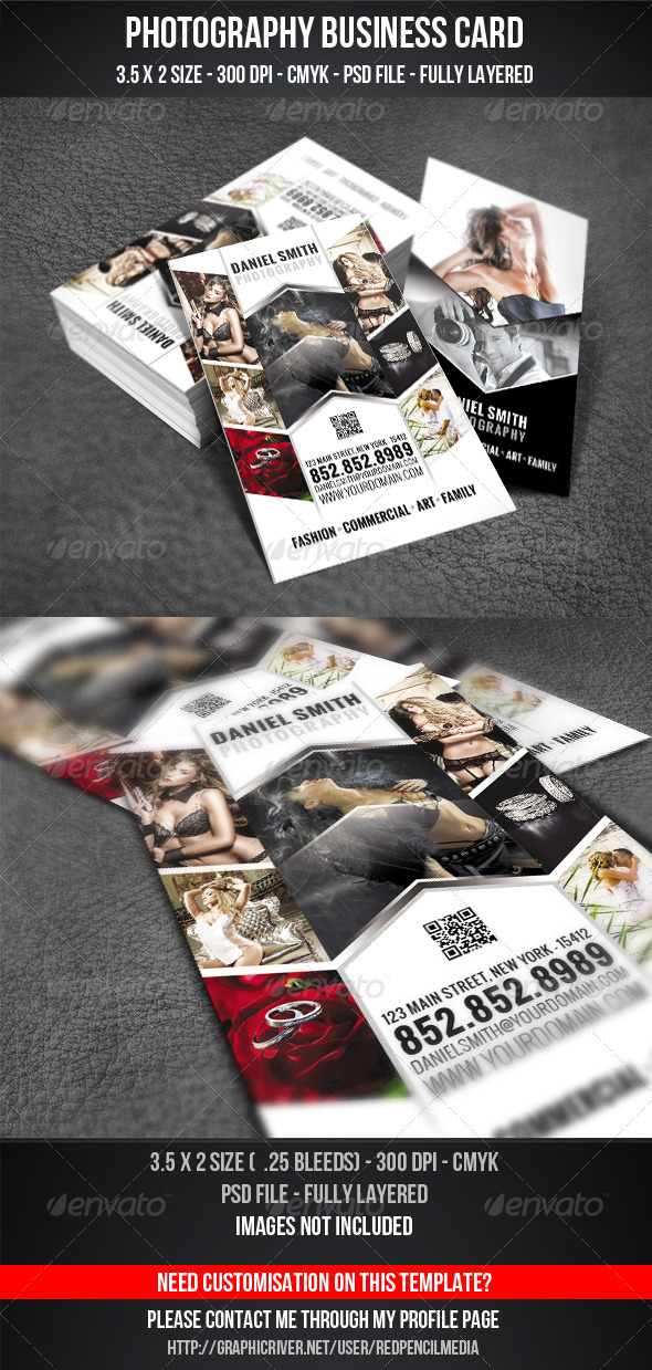 GraphicRiver Photography Business Card 3282744