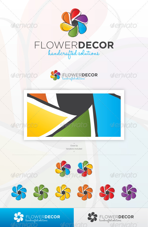 Flower Decor - Nature Logo Templates