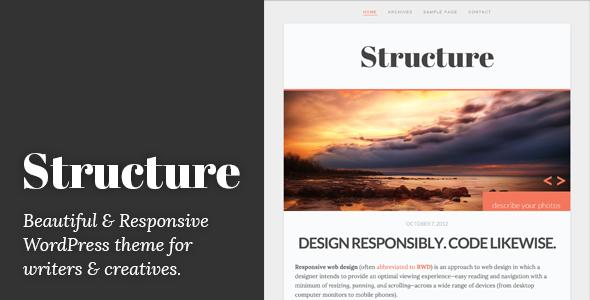 ThemeForest Structure Responsive WordPress Blog Theme 3283796