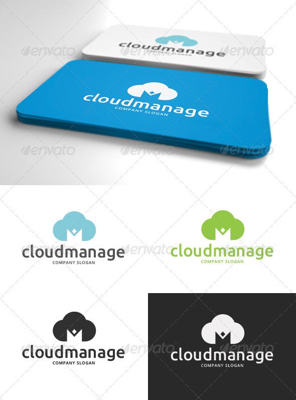 GraphicRiver Cloud Management Logo 3254307