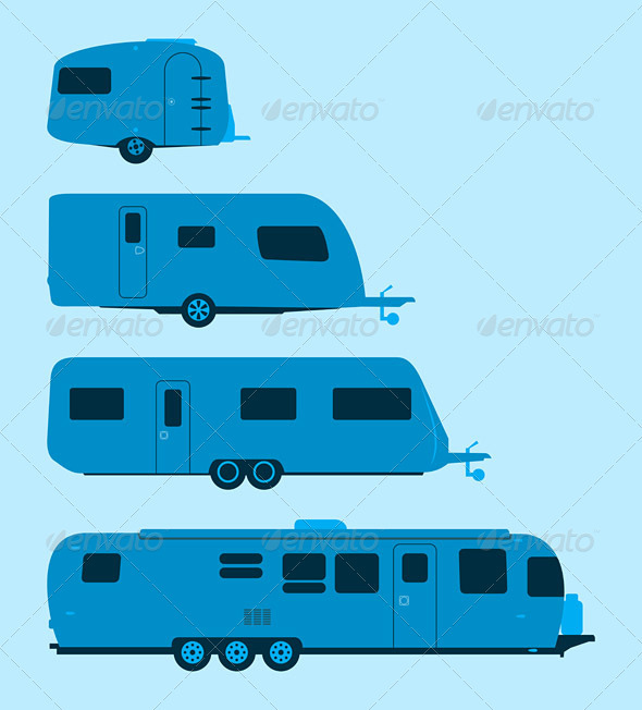 GraphicRiver Caravan Silhouette 3283965