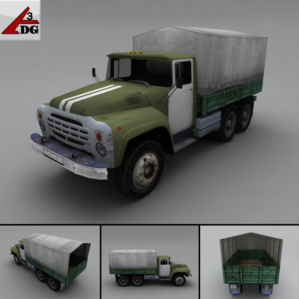 3DOcean ZIL LowPoly body chassis tarp 3283996