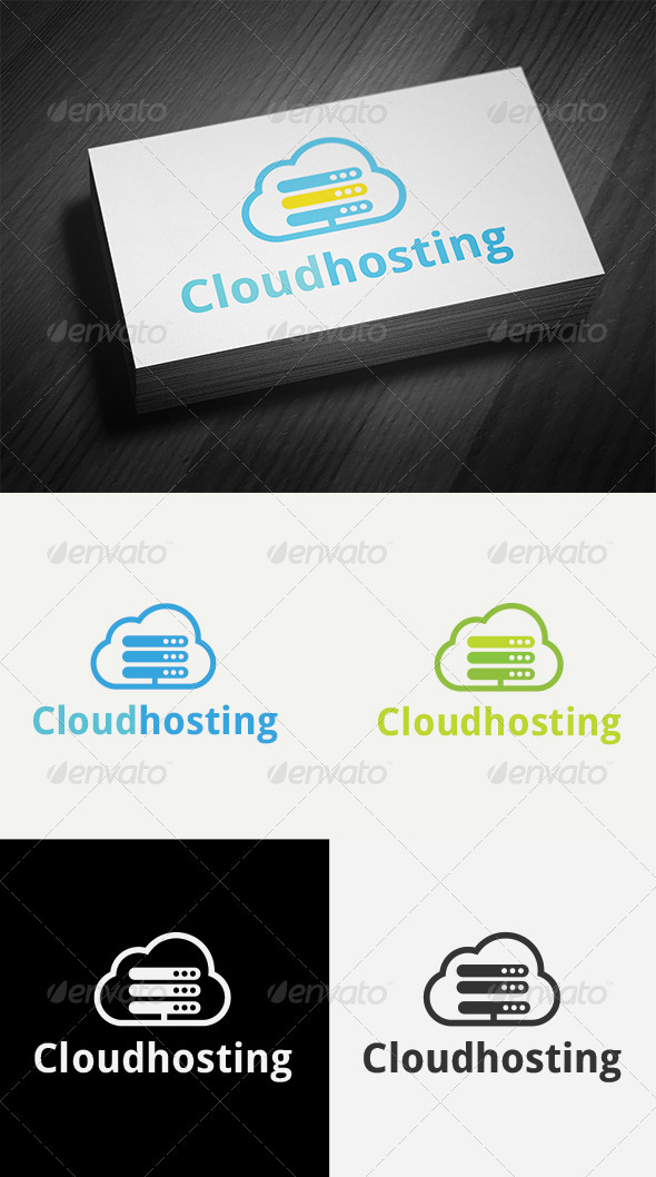 Cloud Hosting Logo - Nature Logo Templates
