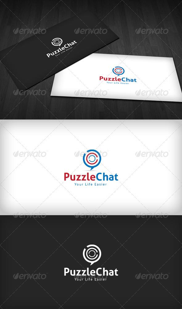 GraphicRiver Puzzle Chat Logo 3284648