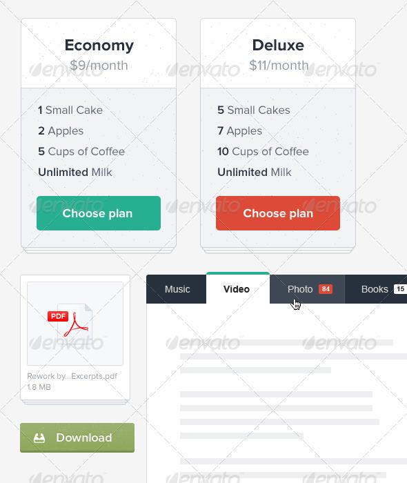 GraphicRiver UI Kit 3272378