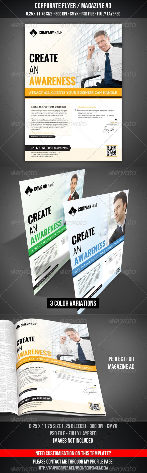 GraphicRiver Corporate Flyer Magazine AD 3285001