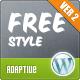 Фристайл Отзывчивый тема Wordpress - Творческая WordPress