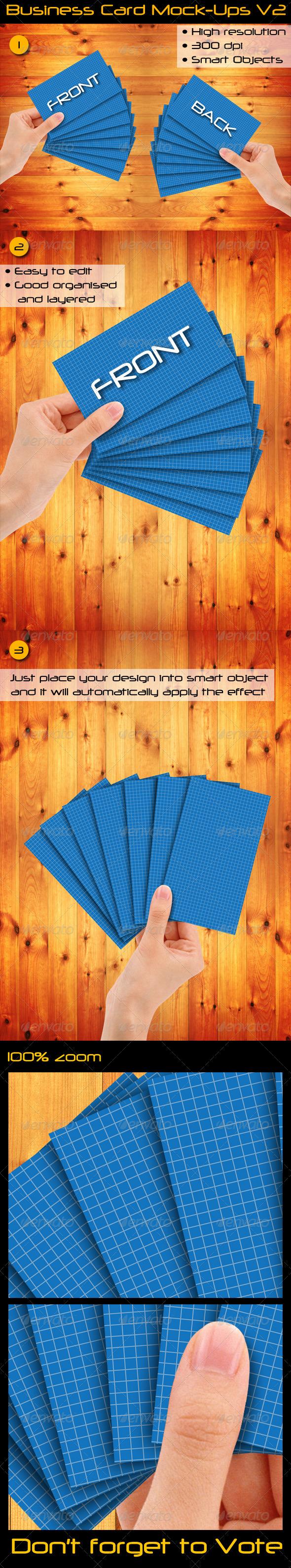 GraphicRiver Business Card Mock-Ups V2 3285275