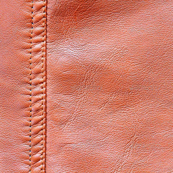 Brown leather texture and background - Stock Photo - Images
