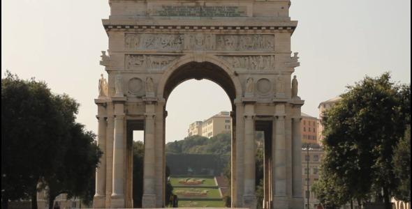 VideoHive Triumphal Arch In Genoa Italy 3285290