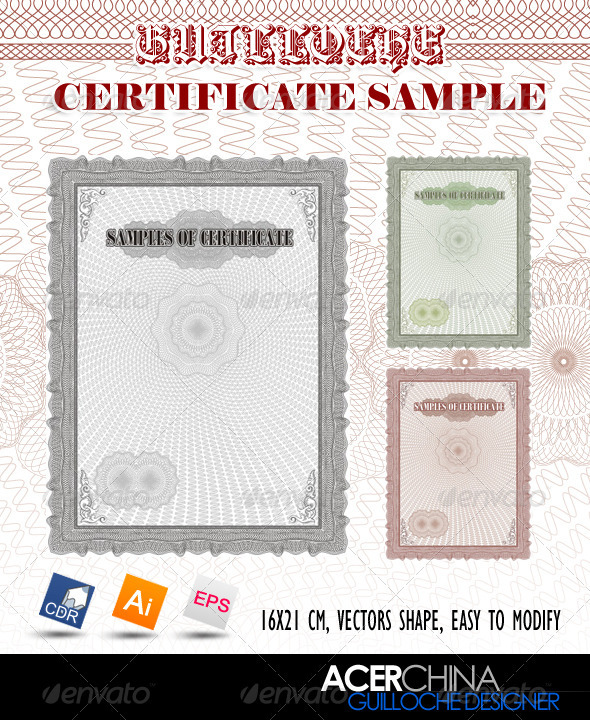 Guilloche Certificate Sample