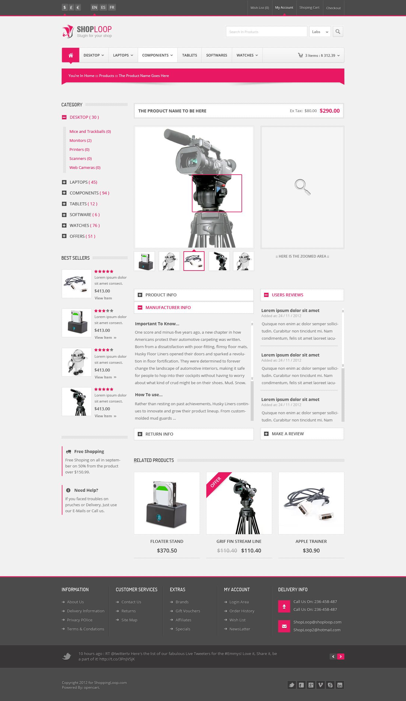 Shoploop: Responsive Html5 eCommerce Template