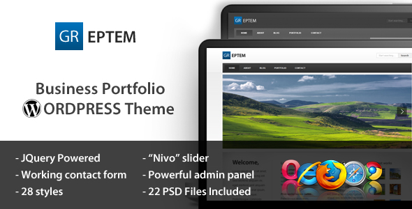 GREPTEM - Business & Portfolio Wordpress Theme