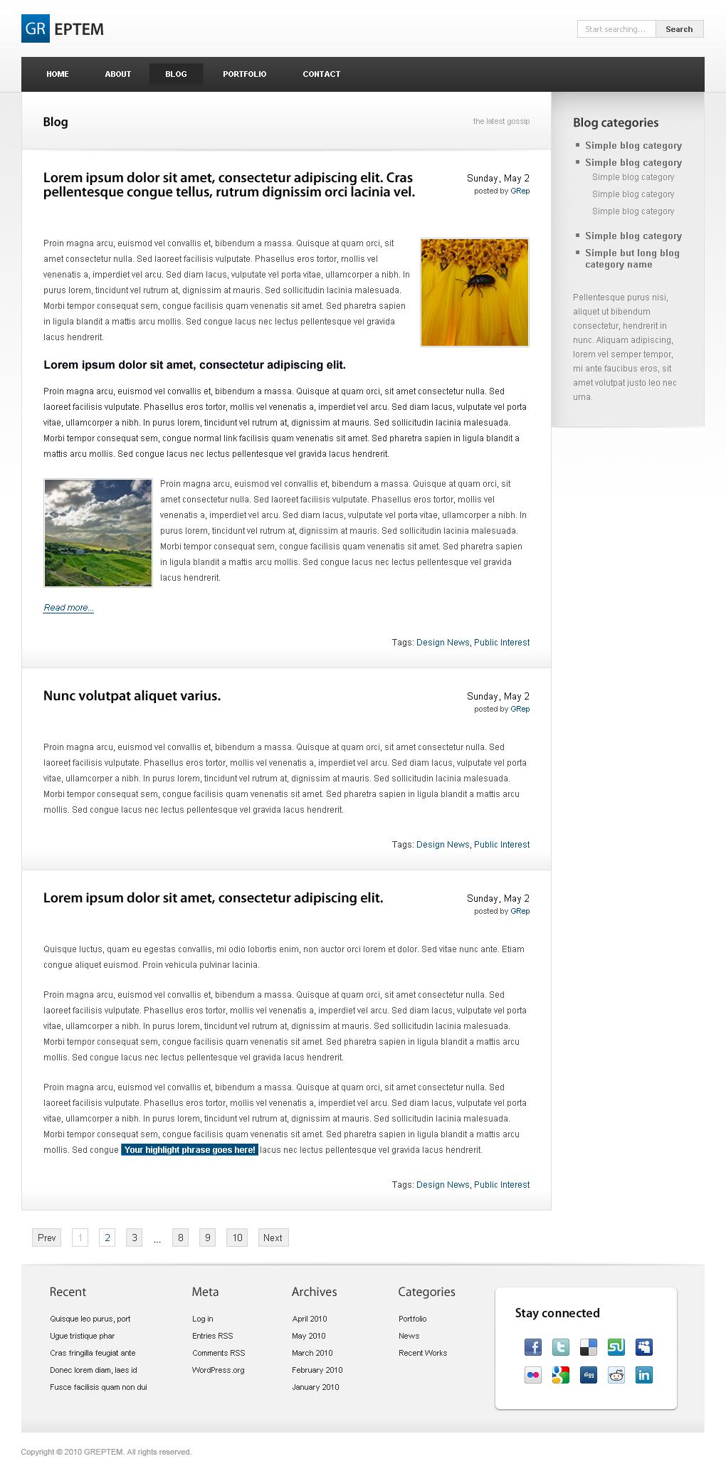 GREPTEM - Business & Portfolio Wordpress Theme