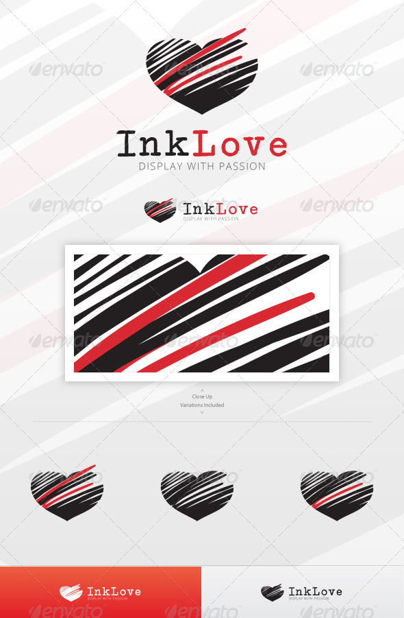 Ink Love Logo Template - Symbols Logo Templates