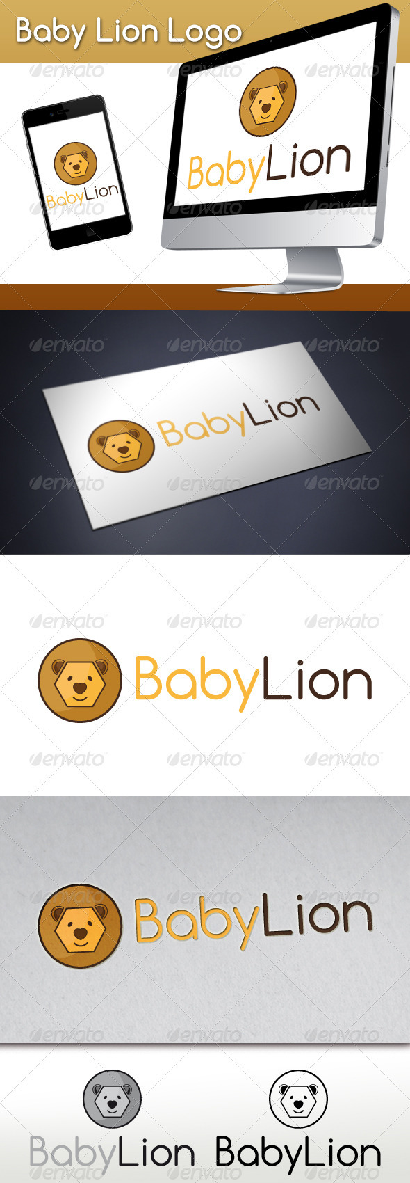 GraphicRiver Baby Lion Logo 3285964