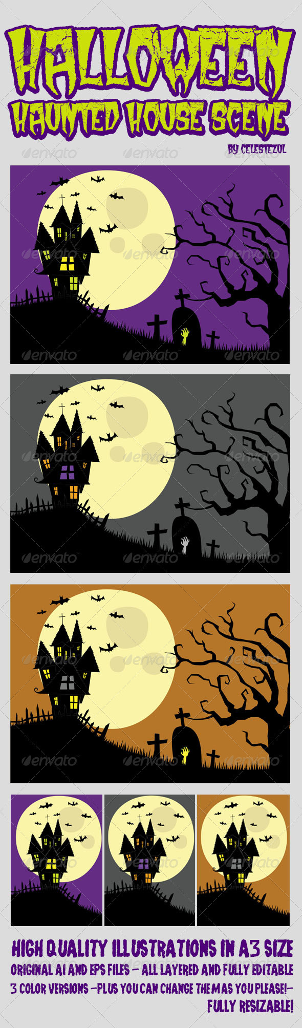 GraphicRiver Halloween Haunted House 3285993