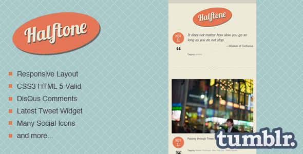 Halftone - Tumblr Theme - Home page