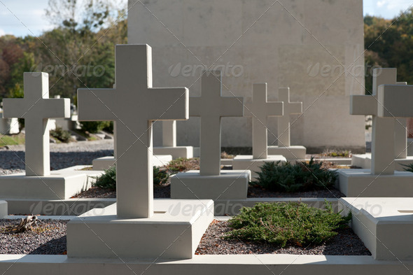 Military cemetery - Stock Photo - Images