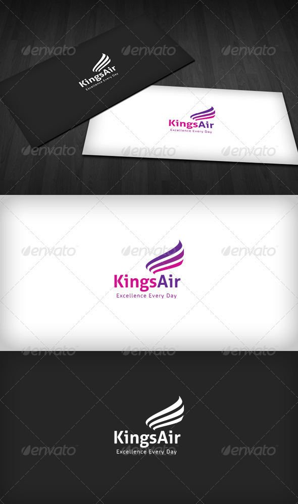 GraphicRiver Kings Air Logo 3286196