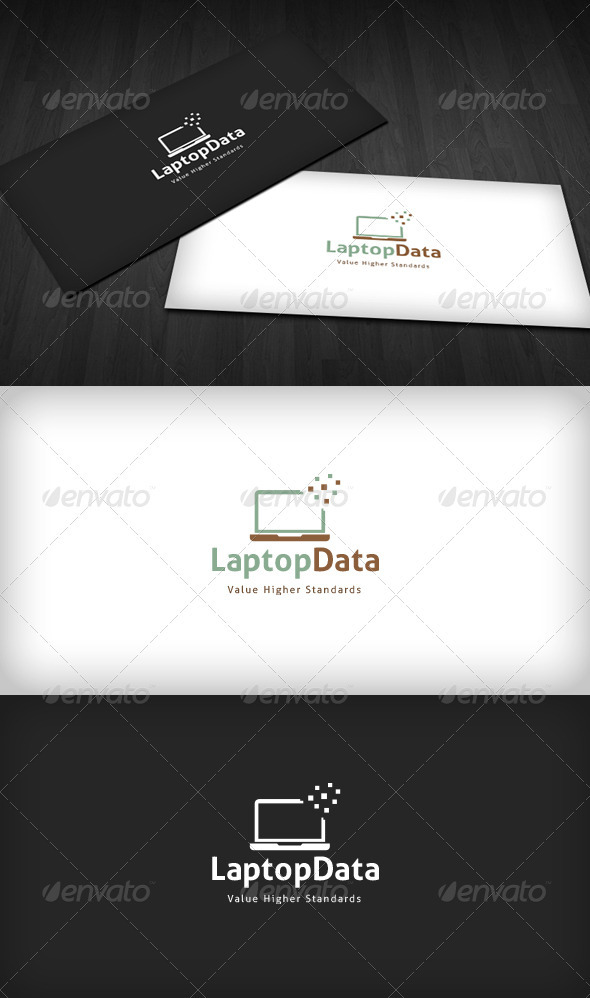 Laptop Data Logo