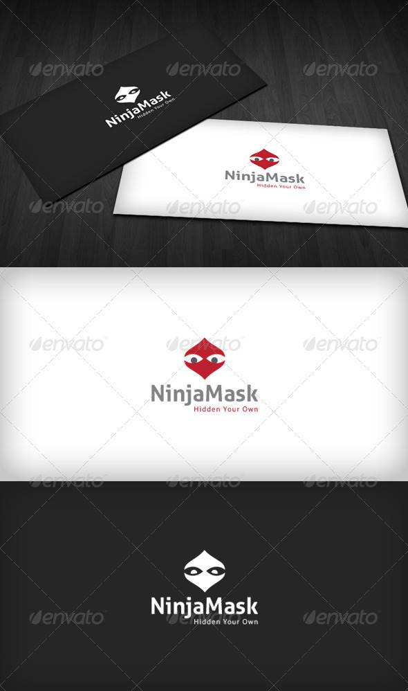 GraphicRiver Ninja Mask Logo 3286319