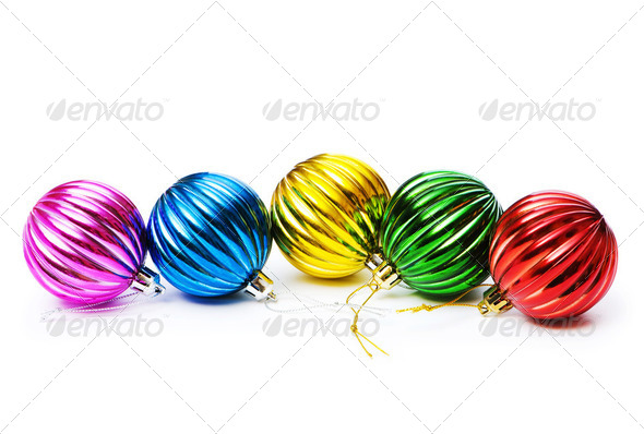 Christmas decoration isolated on the white background - Stock Photo - Images