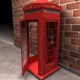 Red Classic Telephone Booth