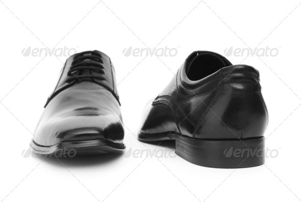 Male shoes isolated on the white background - Stock Photo - Images
