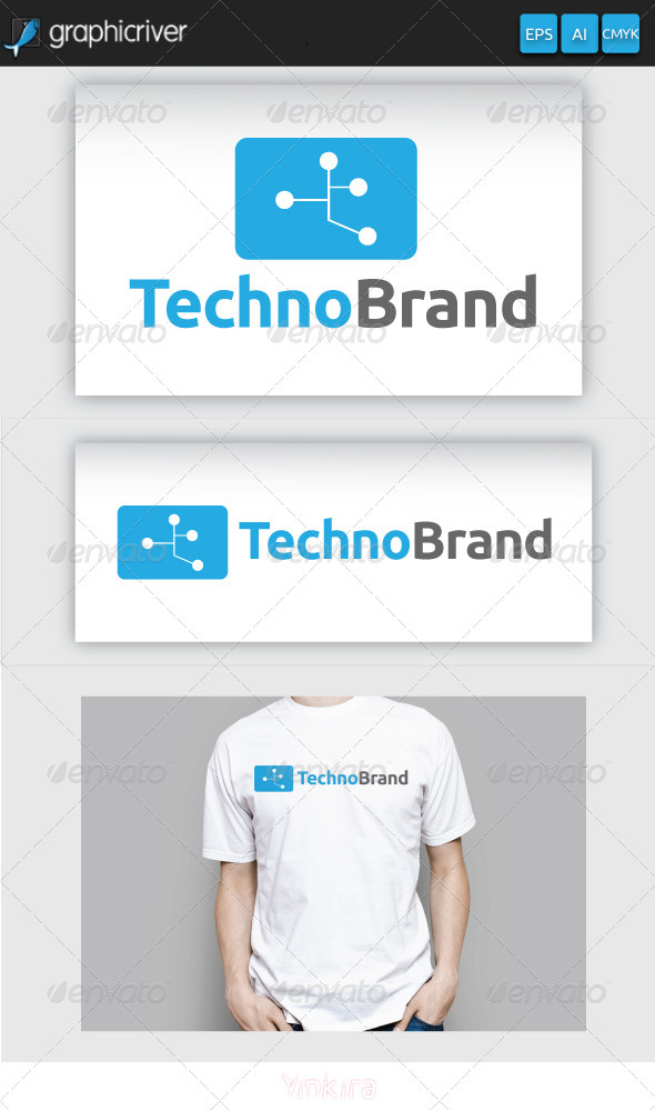 GraphicRiver Techno Brand Logo 3267667