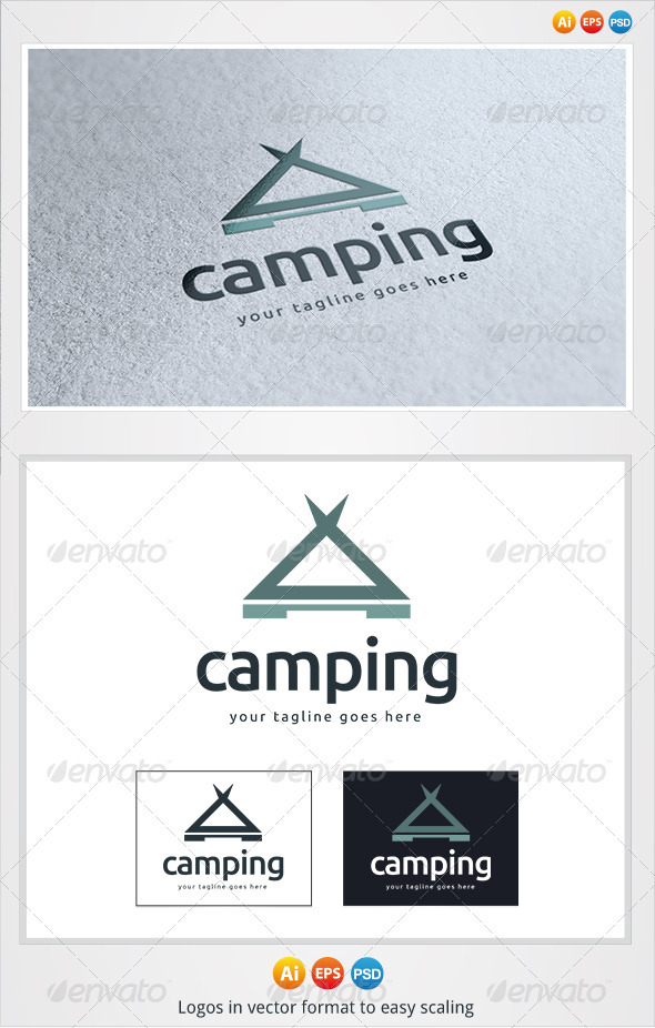 GraphicRiver Camping Logo 3276342