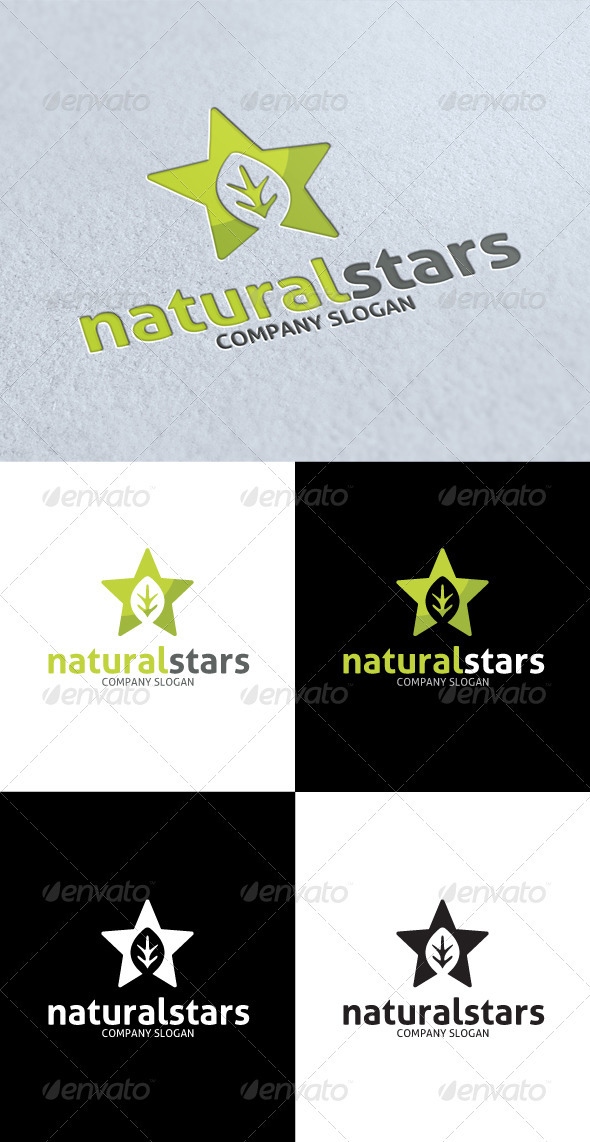 GraphicRiver Natural Star Logo 3287367