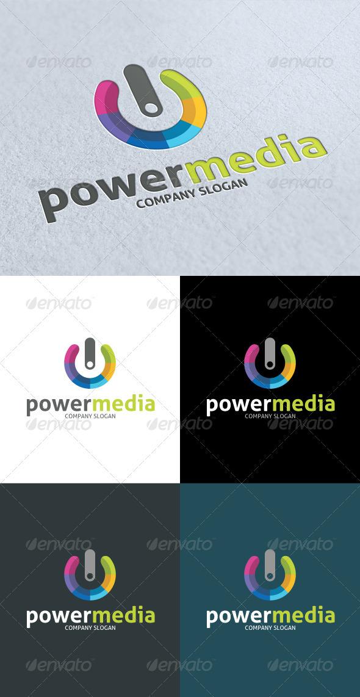 GraphicRiver Power Media Color Logo 3287440