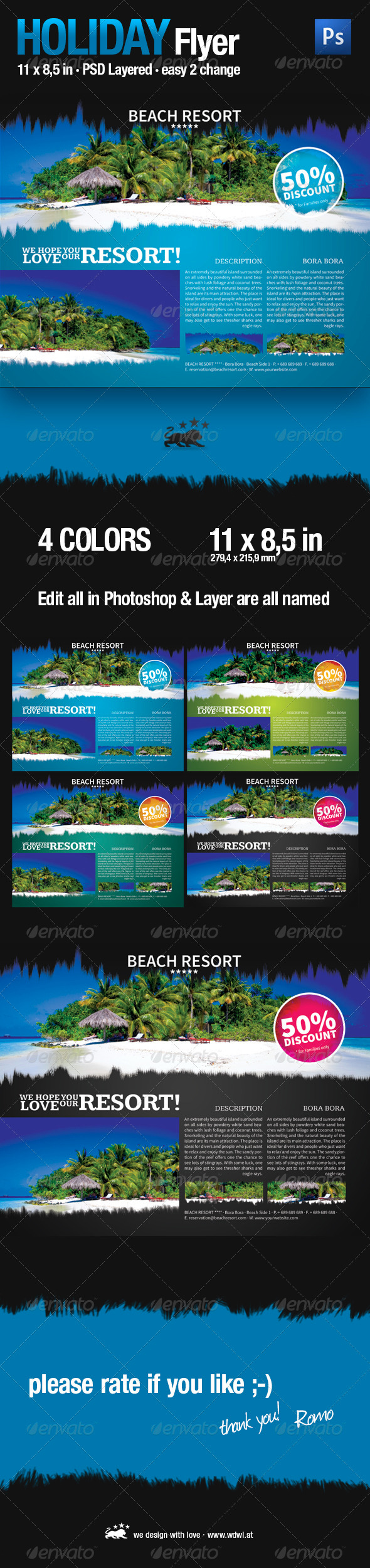 GraphicRiver Holiday Business Flyer 3287461