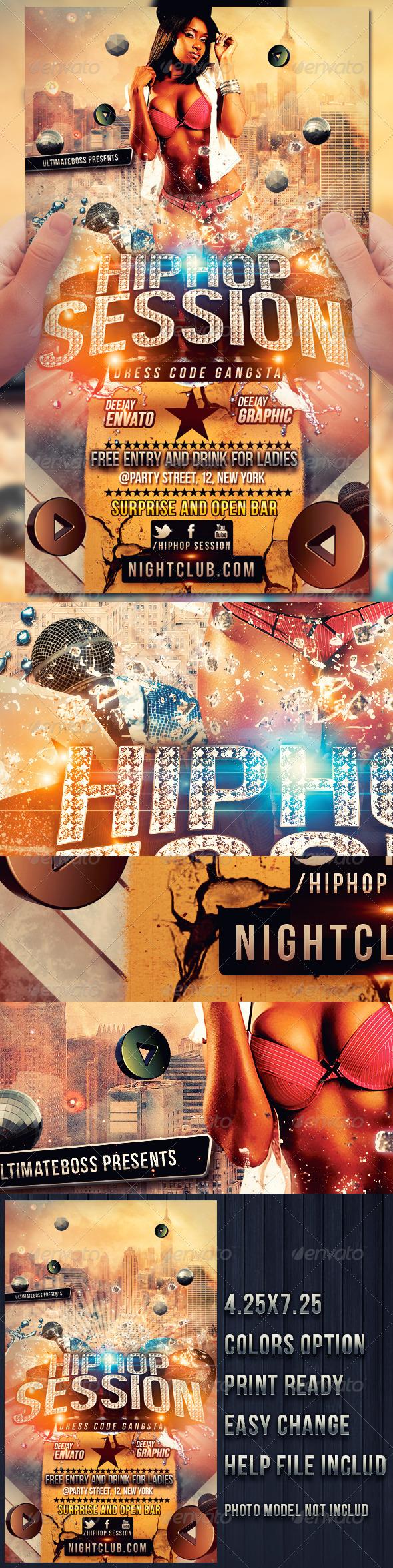 GraphicRiver Hip Hop Session 3287464