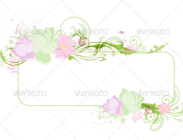GraphicRiver Banner with Lotus 3287777