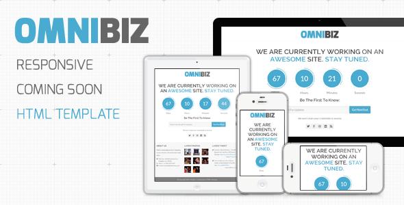 ThemeForest OmniBiz Responsive Coming Soon Website Template 3287859