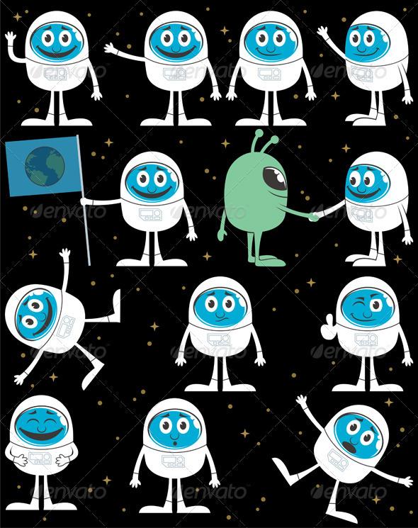 Astronaut - Characters Vectors