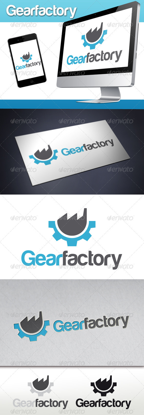GraphicRiver Gear Factory Logo 3287979