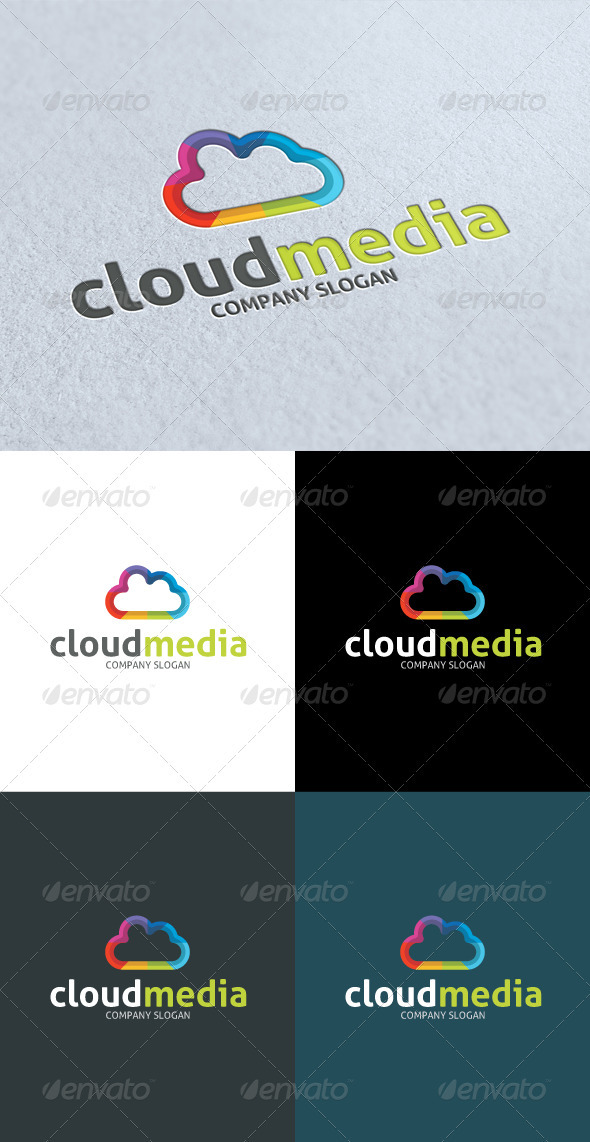 GraphicRiver Cloud Media Studio Logo 3287986