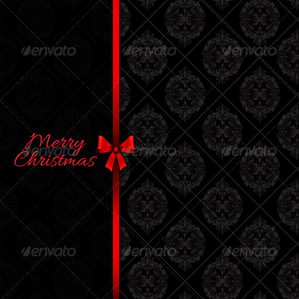 GraphicRiver Christmas bow background 3288025