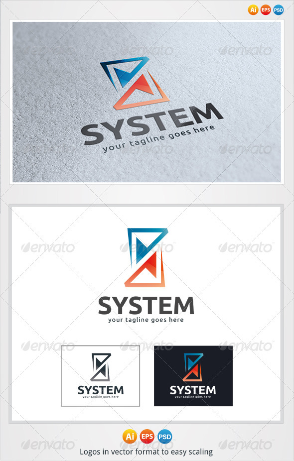 GraphicRiver System S Letter Logo 3277691