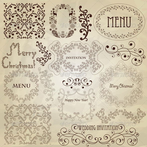 GraphicRiver Vector Vintage Design Elements 3288114
