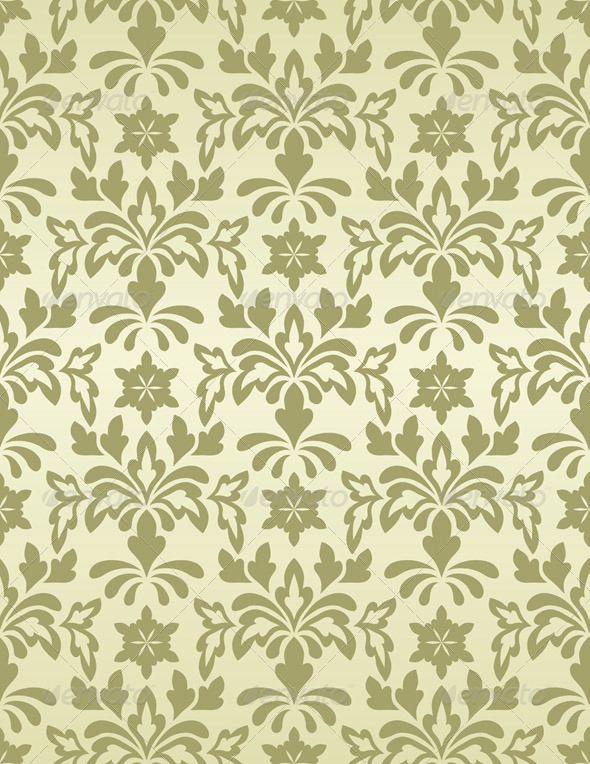 GraphicRiver Vector Seamless Vintage Wallpaper Pattern 3288211